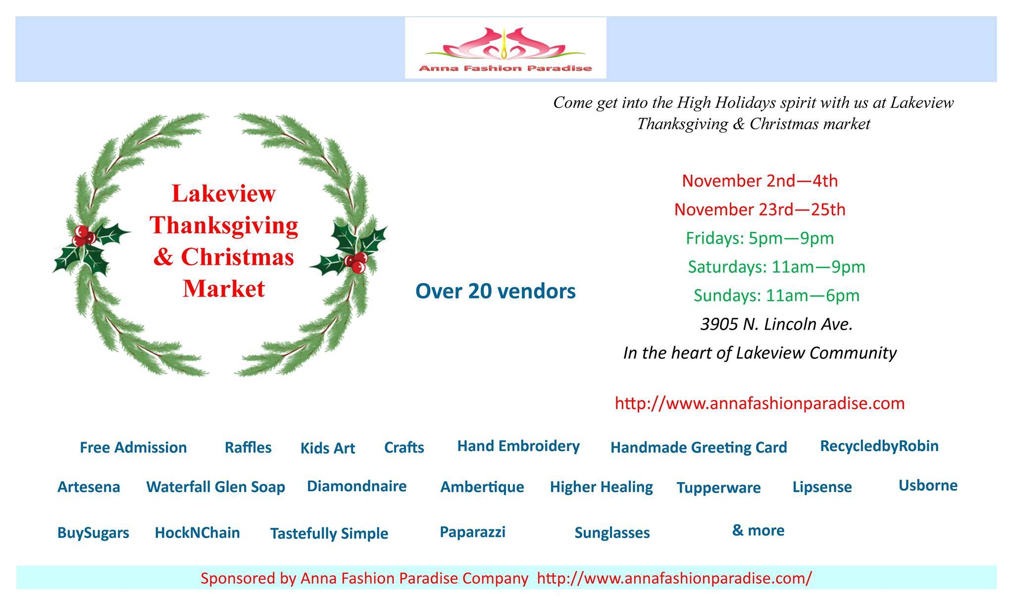 Lakeview Thanksgiving & Christmas Market – Irish Bistro
